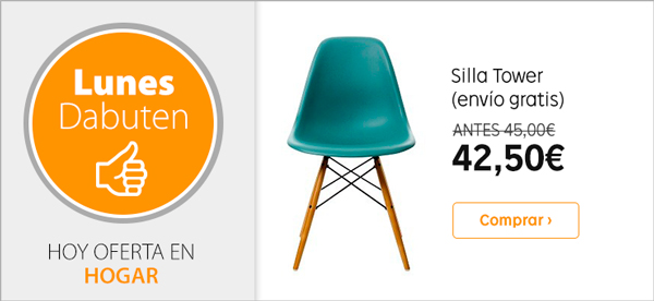 Oferta silla Tower Eames Wood